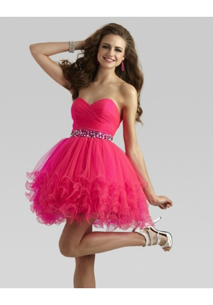 Sweet Pink Sweetheart Mini A Line Zipper Homecoming Cocktail Dress