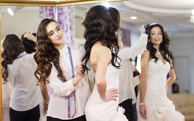 Non-White Bridal Gown